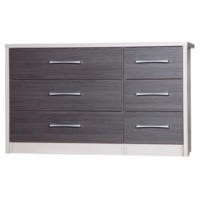 One Call Furniture Avola Premium 3+3 Drawer Chest in Cream and Grey