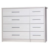 One Call Furniture Avola Premium 4+4 Drawer Chest in Cream with White