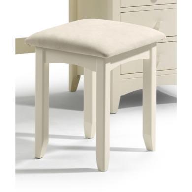 Julian Bowen Cameo Dressing Table Stool in Stone White