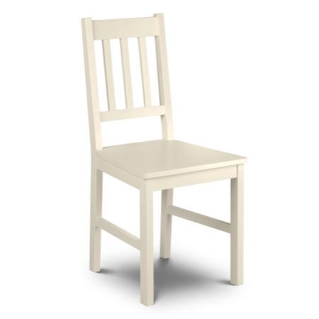 Julian Bowen Cameo Chair In Stone White