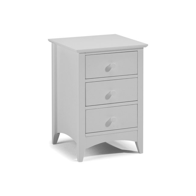Julian Bowen Cameo 3 Drawer Bedside Table in Dove Grey