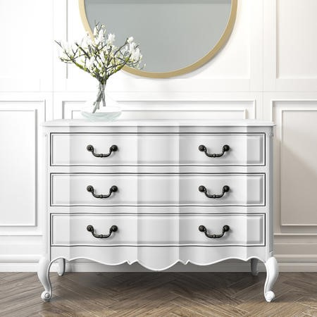 French Chateau Handmade White Chest of Drawers