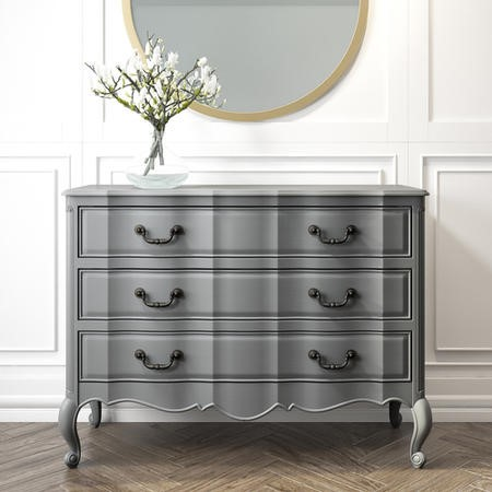 French Chateau Handmade Grey Chest of Drawers