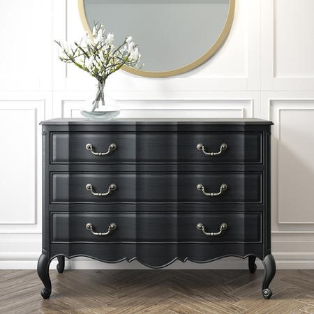 French Chateau Handmade Anthracite Chest of Drawers