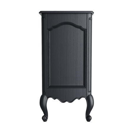 GRADE A1 - Camilla 3 Drawer Accent Chest of Drawers with Curved Detail in Dark Grey