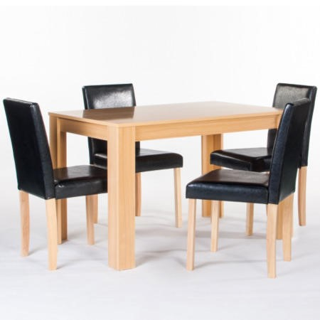 LPD Limited Cambridge Dinning Set In Black