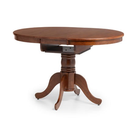 Julian Bowen Canterbury Round Extending Dining Table - Mahogany