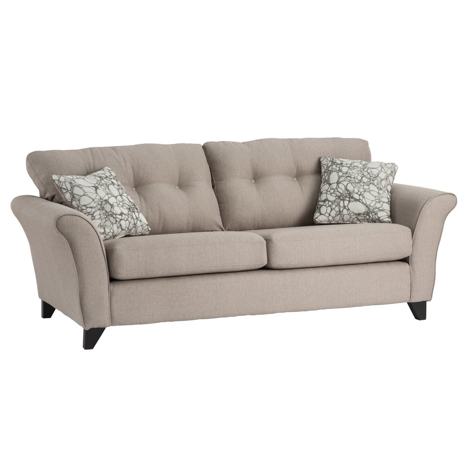 Phenomenal Canterbury 3 Seater Sofa In Beige Fabric Ncnpc Chair Design For Home Ncnpcorg