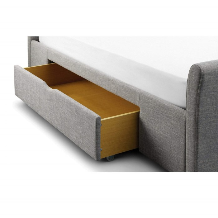 Julian Bowen Capri Grey Upholstered Double Bed With Under Bed