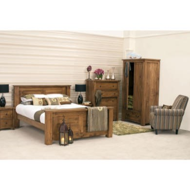 Wilkinson Furniture Georgia Solid Pine Double Bed Frame
