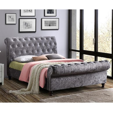 Birlea Castello Upholstered Steel Kingsize Bed