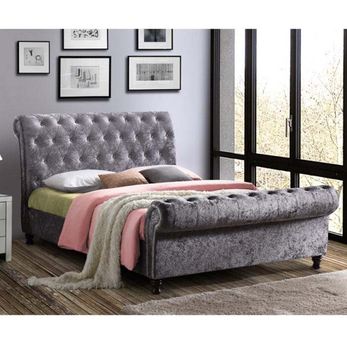 86503aecec5 Birlea Castello Upholstered Steel Super Kingsize Bed CASB6STE