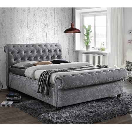 Birlea Castello Side Ottoman Kingsize Bed Upholstered In