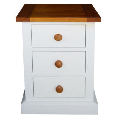 Wilkinson Furniture Cherbourg Solid Pine 3 Drawer Night Table