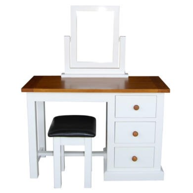 Wilkinson Furniture Cherbourg Solid Pine Dressing Table Mirror and Stool