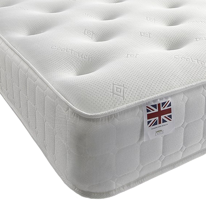 Classic small single 2'6 coil sprung bonnell mattress - medium firmness
