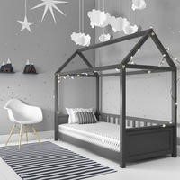Coco House Bed Frame in Anthracite Grey