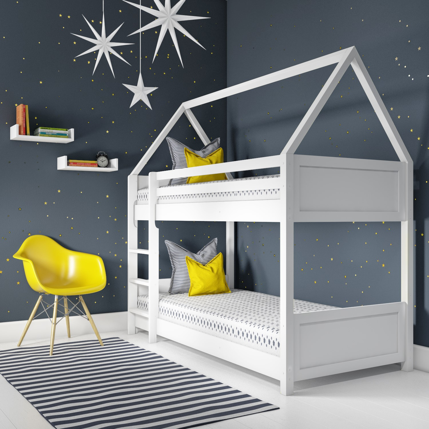 Coco House Bunk Bed In White Furniture123
