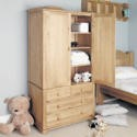 CCO13A Baumhaus Amelie Oak Childrens Double Wardrobe