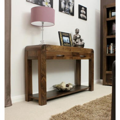 Baumhaus Shiro Console Table in brown