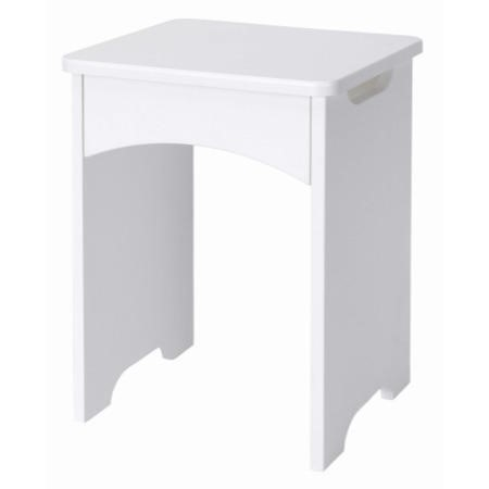 One Call Furniture Calando Gloss Stool In Pearl White