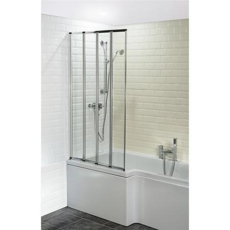 Four Fold Shower Bath Screen