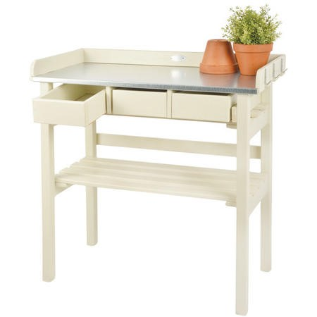 Cream Garden Potting Table - Outdoor Furniture