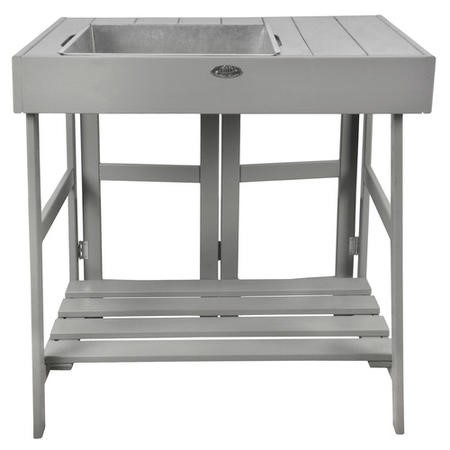 Grey Garden Potting Table