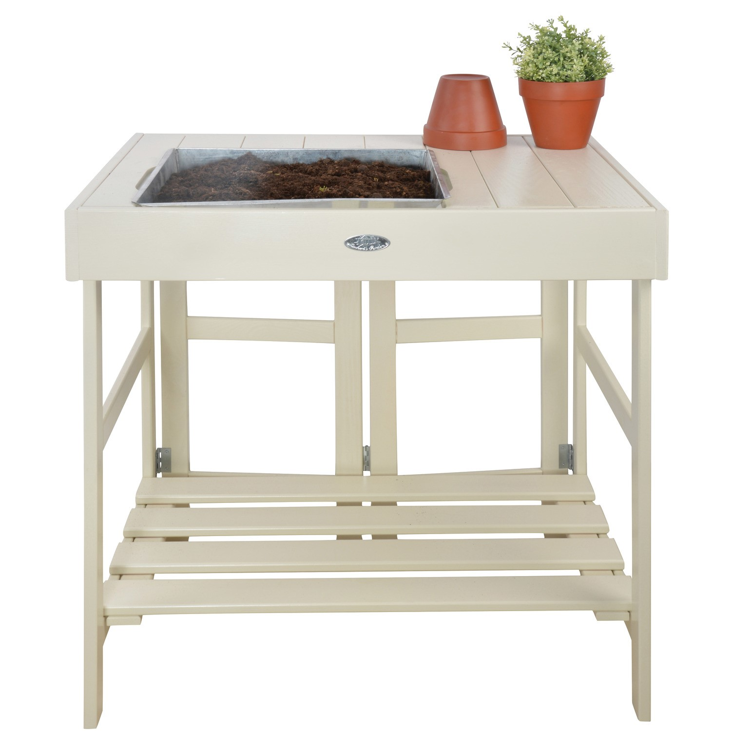 Cream Potting Table With Tray Furniture123