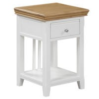 Charleston Bedside Table in Cream and Oak