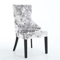 Chester Crushed Velvet Silver Dining Chair