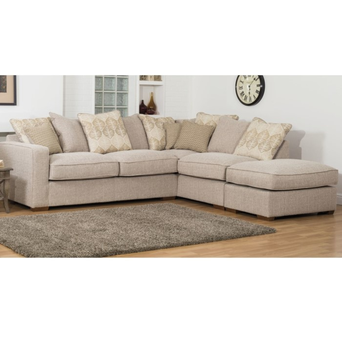 Chicago Sectional Corner Sofa - Oatmeal/Stone Fabric | Furniture123