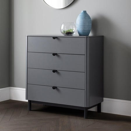 Julian Bowen Chloe 4 Drawer Chest In Grey