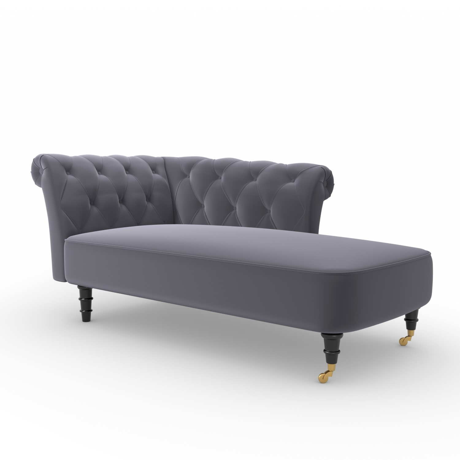Picture of: Christiana Dark Grey Velvet Chaise Longue Chair Right Hand Facing Furniture123