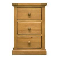 Heritage Furniture Chunky Solid Pine 3 Drawer Bedside Table