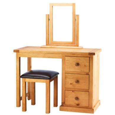 Heritage Furniture Chunky Pine Dressing Table Set