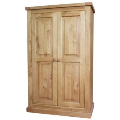 Heritage Furniture Chunky Pine 2 Door Full Hanging Wardrobe