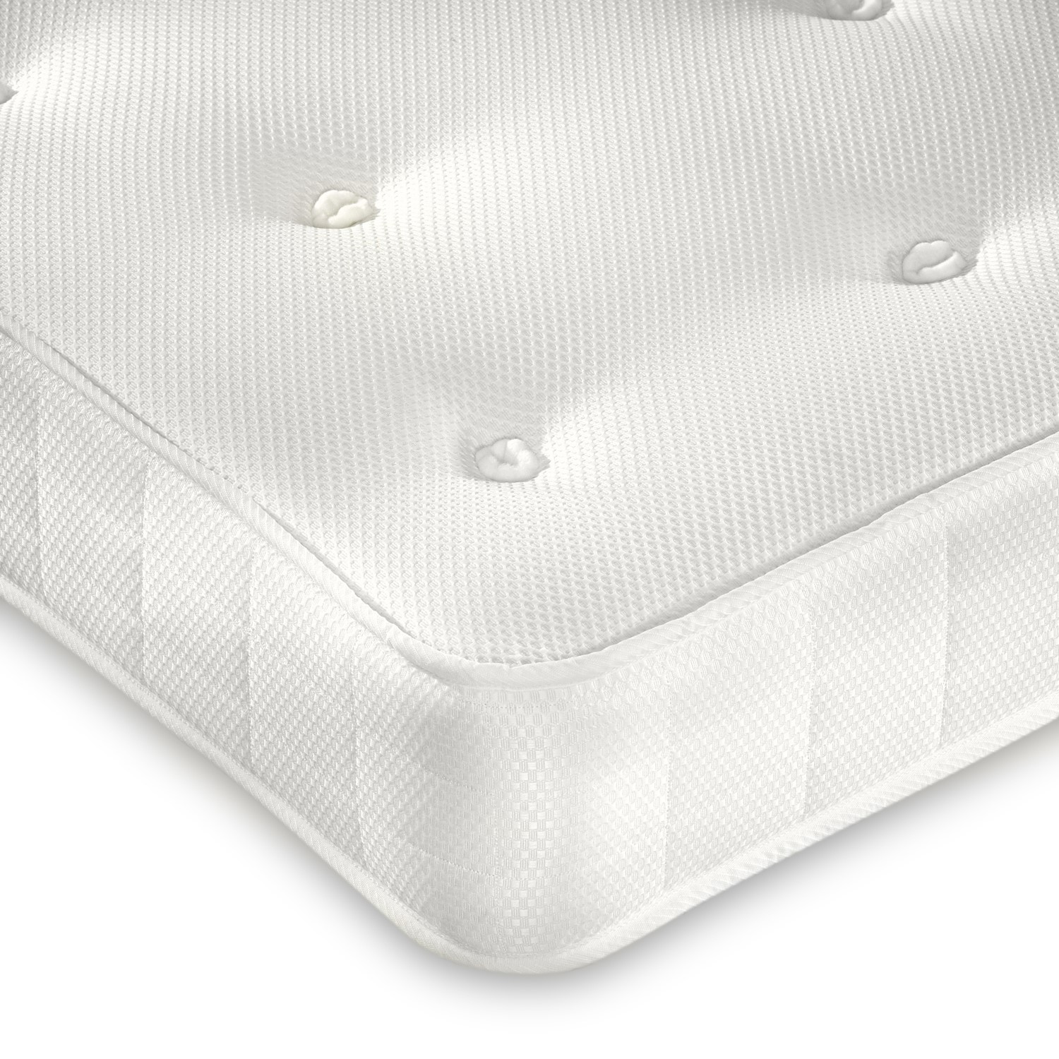 Clay premium orthopaedic coil sprung single mattress - firm firmness