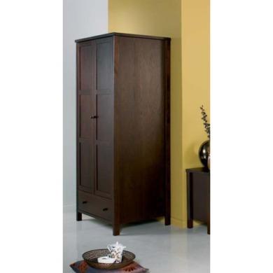 bentley designs atlantis deep oak two door wardrobe furniture123. Black Bedroom Furniture Sets. Home Design Ideas