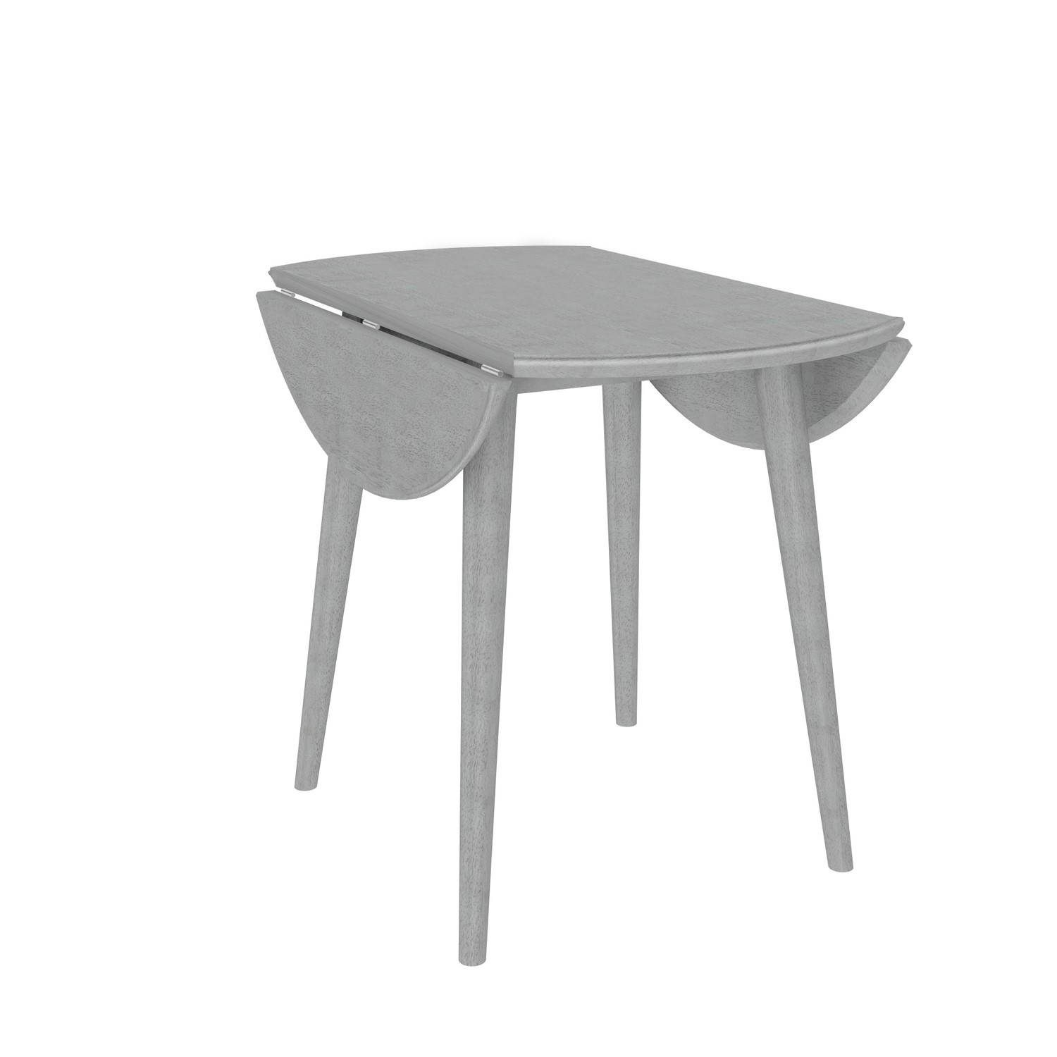 Round Drop Leaf Dining Table In Grey Seats 2 Cami Furniture123