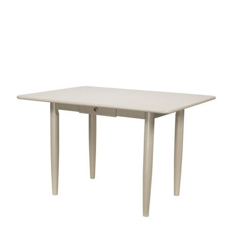Solid Wood Extendable Dining Table in Cream with Storage Drawer - Cami