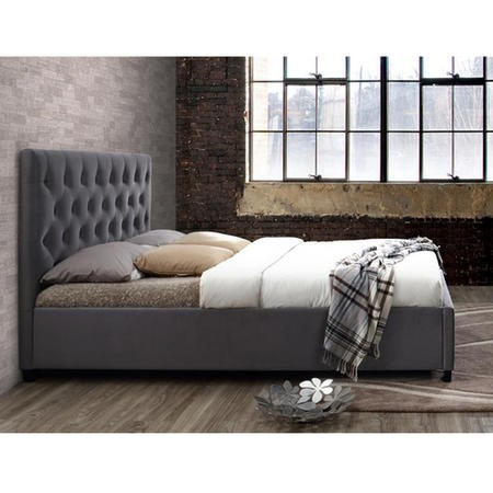 Birlea Cologne Upholstered Grey Double Bed