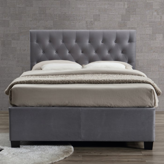 Birlea Cologne Upholstered Grey King Size Ottoman Bed