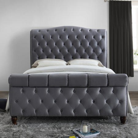 Birlea Colorado Upholstered Grey Super King Size Bed