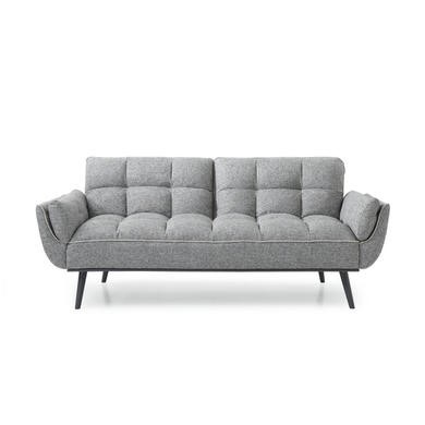 Collette Grey Fabric Sleeper Sofa Bed - Click Clack Style