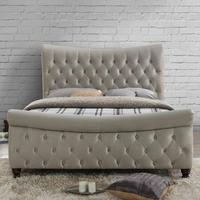 Birlea Copenhagen Kingsize Bed Upholstered in Stone