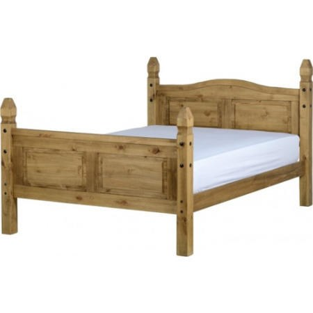 Corona mexican 4ft6in double bed in solid pine furniture123 for Furniture 123 corona