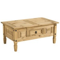 Corona Mexican Solid Pine 1 Drawer Coffee Table