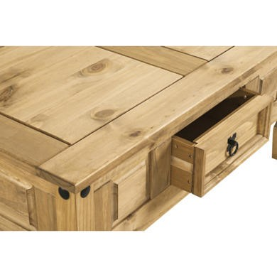 Corona Solid Pine 1 Drawer Coffee Table
