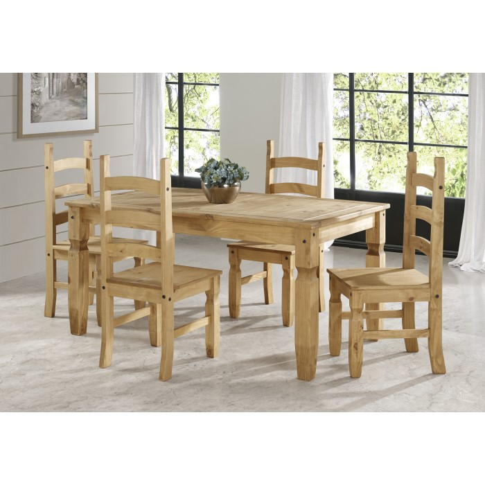 Corona Pine Solid Wood Rectangle Dining Table 5ft Furniture123
